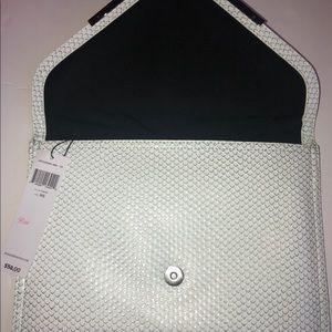 BCBGeneration Bags - BCBGeneration Large Clutch Frost NWT